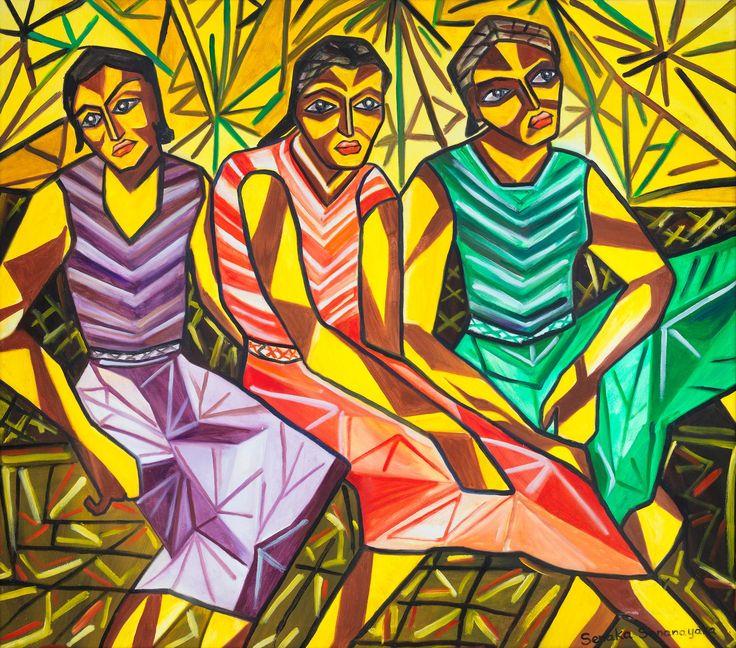 Oil on canvas by Senaka Senanayake. (1600×1410)