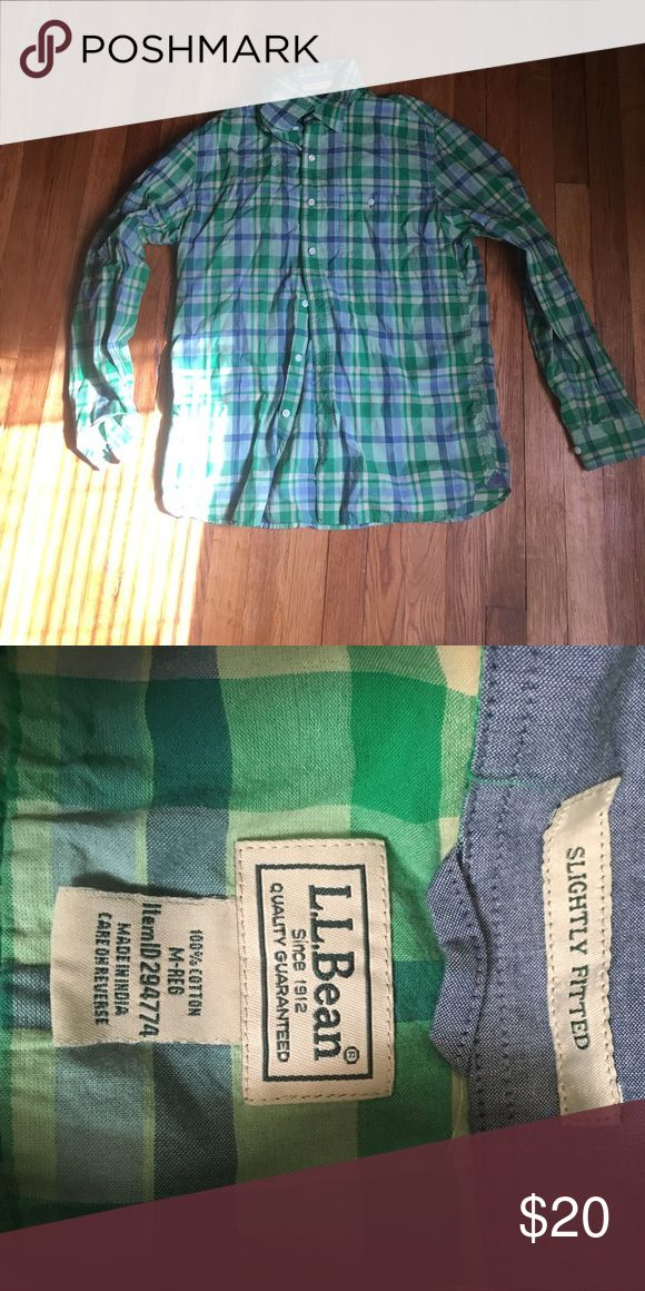 LL Bean Long Sleeve Madras Shirt Only worn once or twice. Great condition. A lightweight Madras shirt. No stains or defects. L.L. Bean Shirts Casual Button Down Shirts