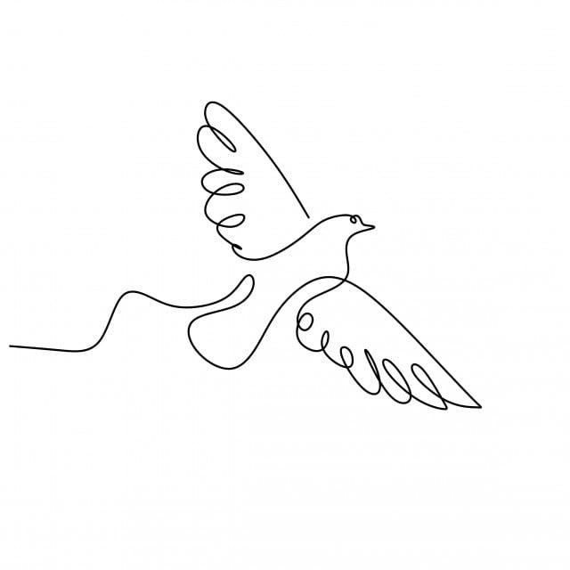 dessin continu en ligne d un minimalisme volant d oiseau hirondelle oiseau le dessin avaler png et vecteur pour telechargement gratuit in 2020 line art drawings art drawings simple bird drawings bird drawings