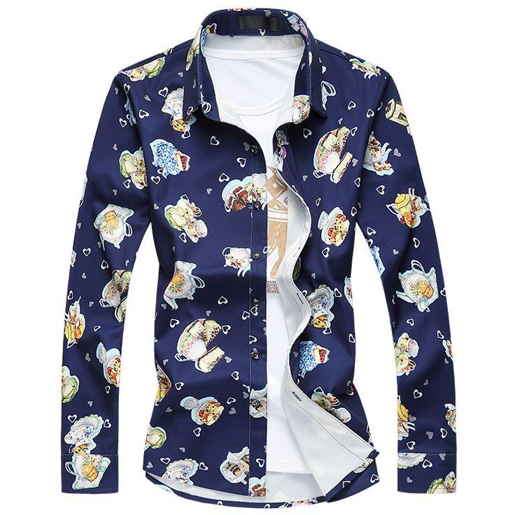 >> Click to Buy << M-7xl!! Plus Size  Men Shirt Luxury Brand  High-end Fashion  Slim Fit Shirt Men Blusas Masculinas Leisure Mens Long Sleeve Shirt #Affiliate