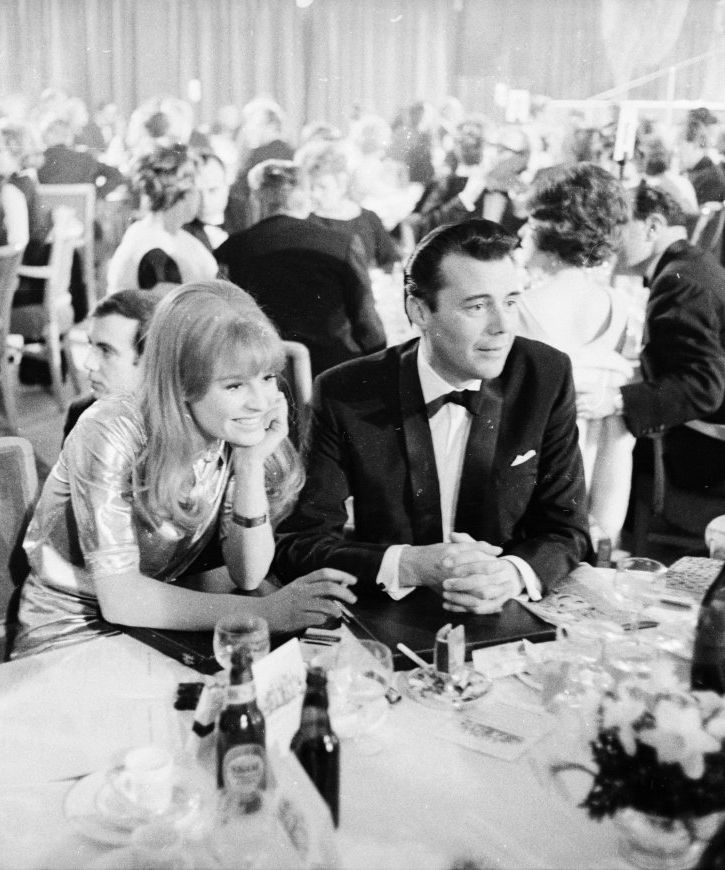 Julie Christie and Dirk Bogarde at the 24th Golden Globe Awards, 1966.