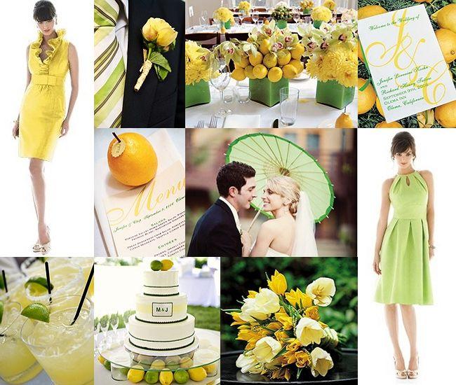 сватба с тема лимони