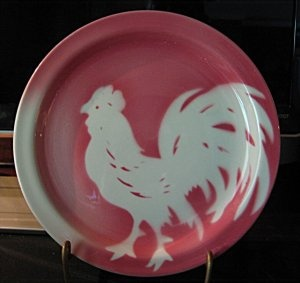Sterling China Restaurant Ware 7-1/4-in Airbrushed Rooster Plate