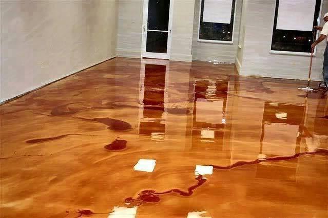 DIY Metallic Epoxy Floor - The Perfect DIY