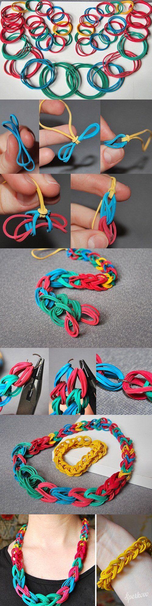 Kreatívne návody / náramky a náhrdelníky z gumičiek