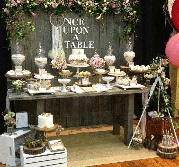 Idea for fence use, not that wording, love the candy/cookie table for more desserts and could be take away party favors too