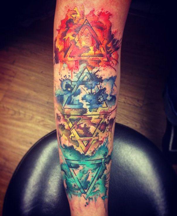 Four Elements Tattoo Designs Tatuaje Geometrico Tatuajes De Los