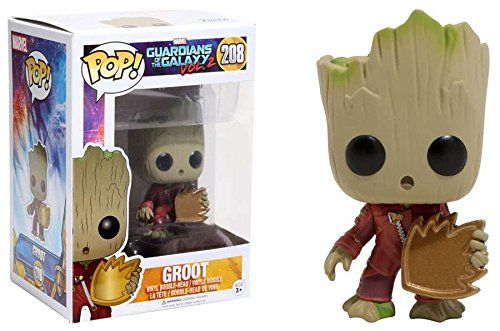 This Baby Groot Funko Pop even comes with a tiny shield!