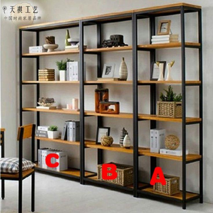 Tianqi ferro americano rural retro madeira de chão da sala prateleira estante prateleira prateleira criativa em Mulas & Tamancos de Sapatos no AliExpress.com | Alibaba Group