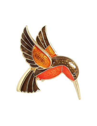 Broche de la manera de la forma del pájaro del esmalte