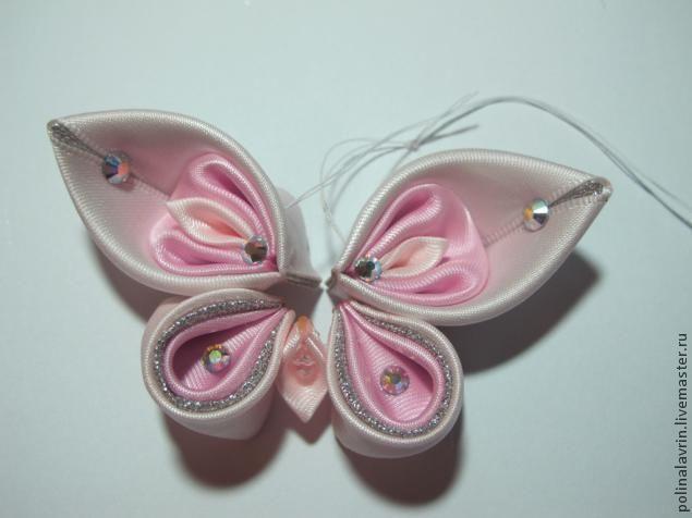 Мк Бабочки канзаши - Ярмарка Мастеров - ручная работа, handmade