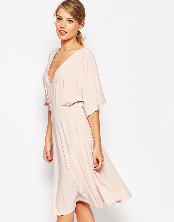 I also love this: ASOS Kimono Plunge Midi Dress - Nude - size 10 - ($68.08)