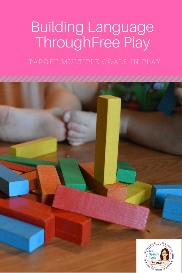 You can target many different speech therapy goals using FREE PLAY in your therapy