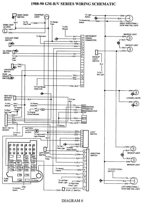10 97 Chevy Truck Trailer Wiring Diagram Trailer Wiring Diagram Chevy Trucks Chevy 1500