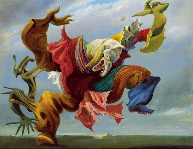 Max Ernst. The Fireside Angel (The Triumph of Surrealism) L'ange du foyer (Le triomphe du surréalisme) 1937