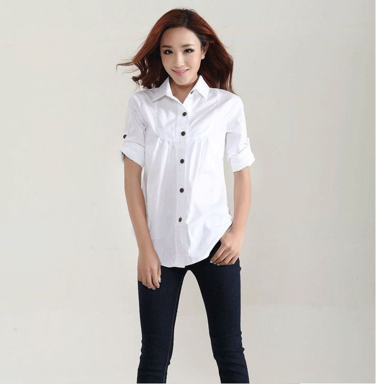 women shirt work wear New Autumn high quality long-sleeve slim cotton blouse office ladies plus size formal tops