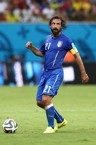 Andrea Pirlo of Italy against England in the 2014 World Cup