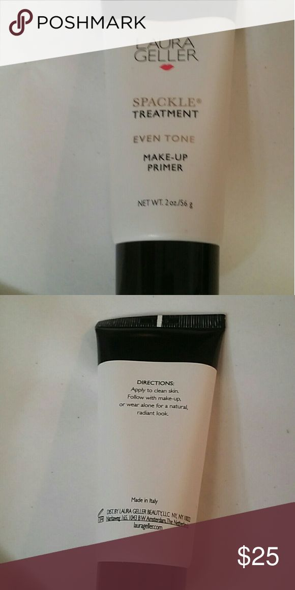 Laura Geller Spackle Primer Laura Gellers famous Even Tone Makeup Primer. Extends the wear of your makeup and gives you a flawless even texture. Has been used two or three times, more than 90% of product remains. Laura Geller Makeup Face Primer