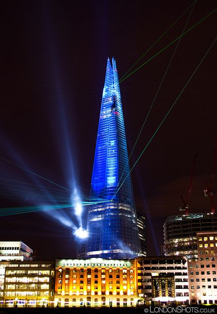 We love the light shows around the Shard.