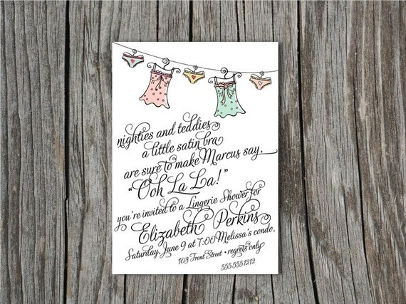 invite: Shower Ideas, Lingerie Parties, Bachelorette Parties, Bachelorette Card, Shower Poem, Lingerie Shower Invitations, Lingerie Bridal Showers, Parties Ideas, Bridal Shower Invitations