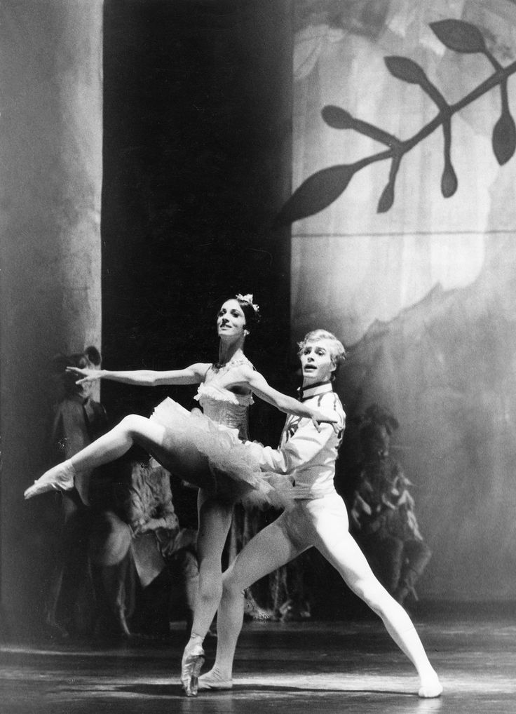 "Marcia Haydee and Egon Madsen in the ""The Nutcracker"""