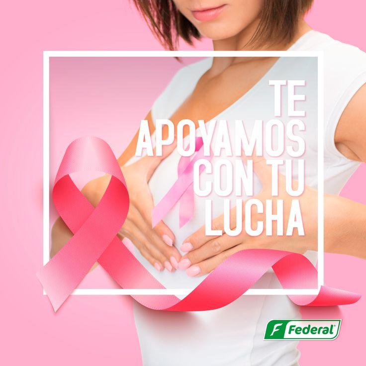 ¡Te apoyamos con tu lucha!  Te apoyamos con tu lucha, y queremos que le pongas el pecho al cáncer de seno.  #modorosa