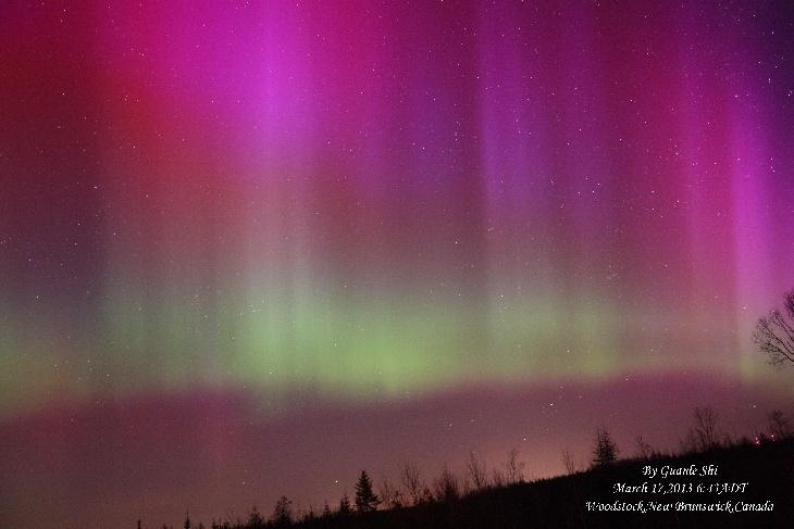 Aurora Borealis - Woodstock, New Brunswick, Canada