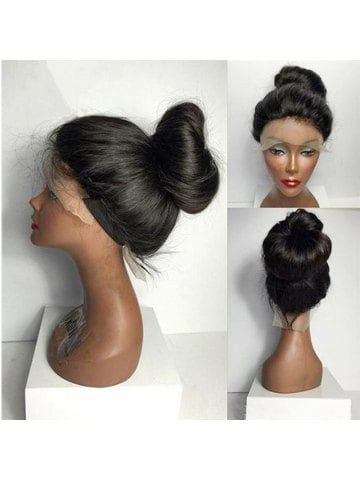 Women Long Ponytails Straight Lace Frontal Synthetic Wig  2308443ba