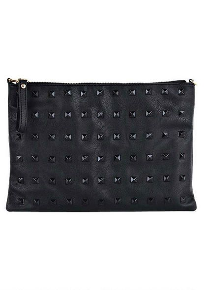 Leather Statement Clutch - Ice by VIDA VIDA