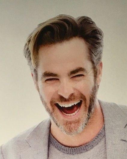 Happy Chris Pine