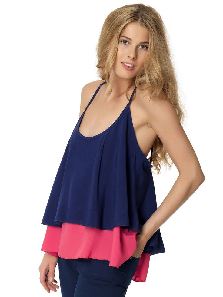 Layered cami in colorblock
