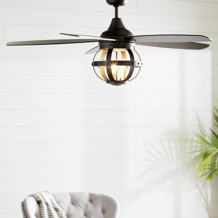 52 Mirelle 5 Blade Ceiling Fan With Remote Light Kit Included