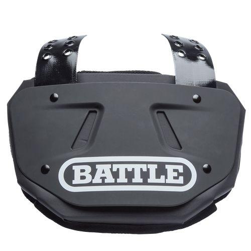 Battle Football Back Plate Black Adult