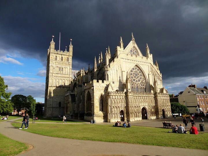 Beautiful Exeter Cathedral, Devon, England, UK.  Taken Sept 15th 2013 c/o Marion Craven.