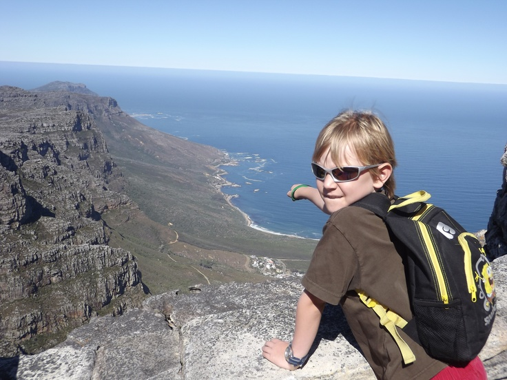 James spotting sights from the top of Table Mountain