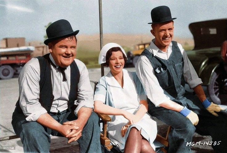 Laurel and Hardy.. The Finishing Touch...