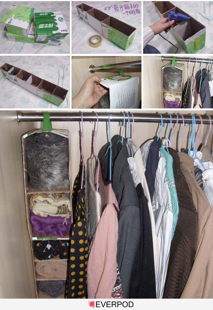 g nial les briques de lait transform es en rangement suspendre dans son armoire carton. Black Bedroom Furniture Sets. Home Design Ideas
