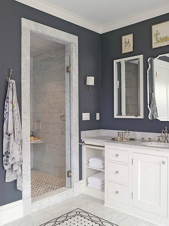 Whether you have a bathtub or not, walk-in showers are a great idea because they fit right in with your décor and help other elements around the bathroom stand out....