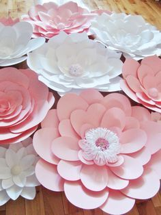 DIY Paper Flower Backdrop Set of 30 Paper by DreamEventsinPaper