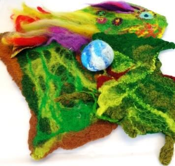 Wet Felted Pieces