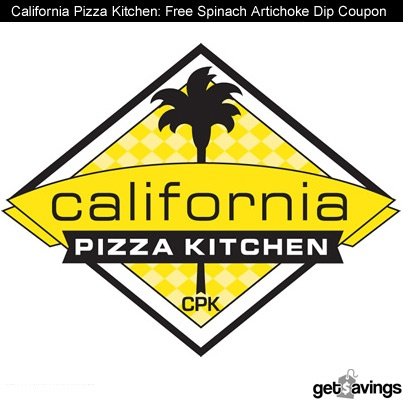 California Pizza Kitchen: Free Spinach Artichoke Dip Coupon    GET IT http://gtsvngs.co/JsQ5vt