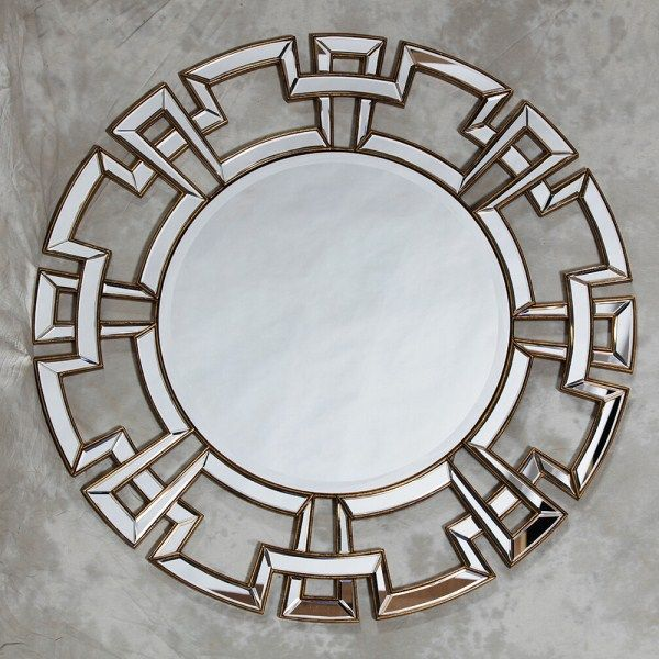 Stunning Silver or Gold Edged Frame Aztec Venetian Mirror