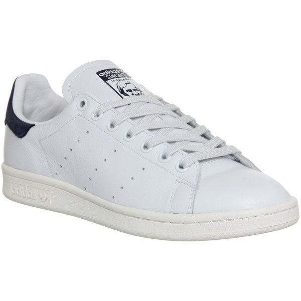 Adidas Stan Smith (�67) ? liked on Polyvore featuring shoes, neo white
