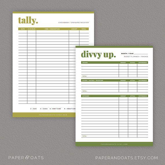Budget Planning Kit – Editable, Bill Tracker, Bill Pay Organizer, Personal Finance, Money Management // Household PDF Printables