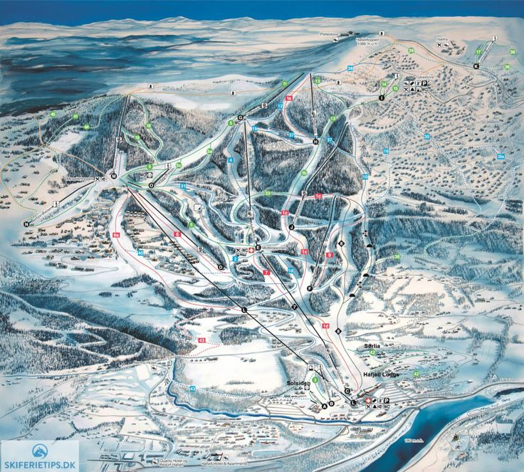 Hafjell Piste Map (High resolution / .JPEG) #hafjell #skiing #norway