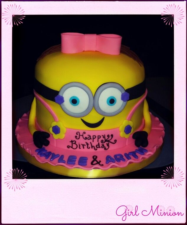 20 best girl minion cake ideas images on Pinterest Minion cakes