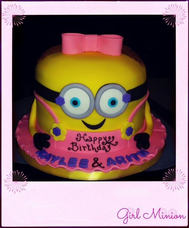Girl Minion Cake Images : Girl Minion Cake Kids birthday cakes Pinterest