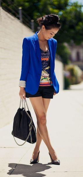 Cobalt blazers.