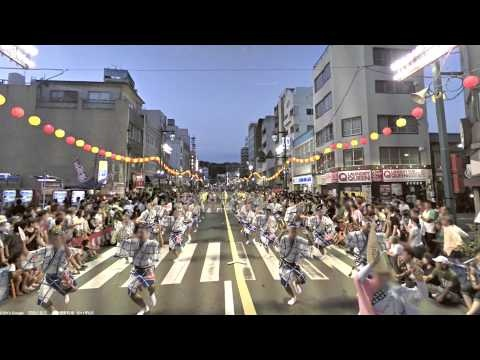 "A street view of the ""Awa Odori"" was shot with the help of Tokushima City Tourism Association."