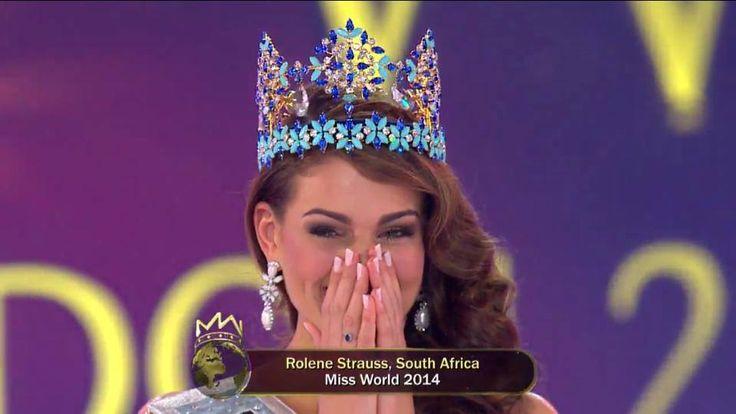 Miss Afrique du Sud , Rolene Strauss , a remporté, Dimanche 14 Décembre, le titre de Miss Monde 2014, C'est Megan Young, Miss Monde 2013, qui lui a remis...